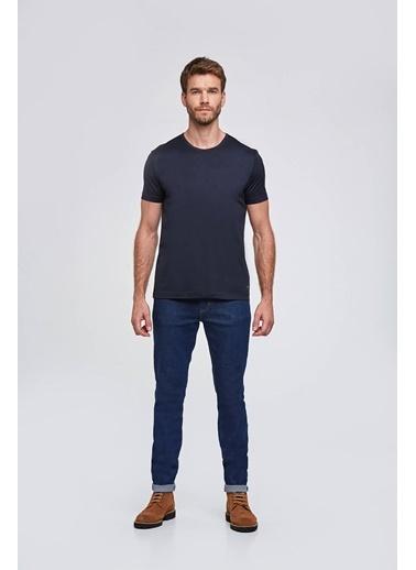 Hemington Bisiklet Yaka Basic T-Shirt Lacivert